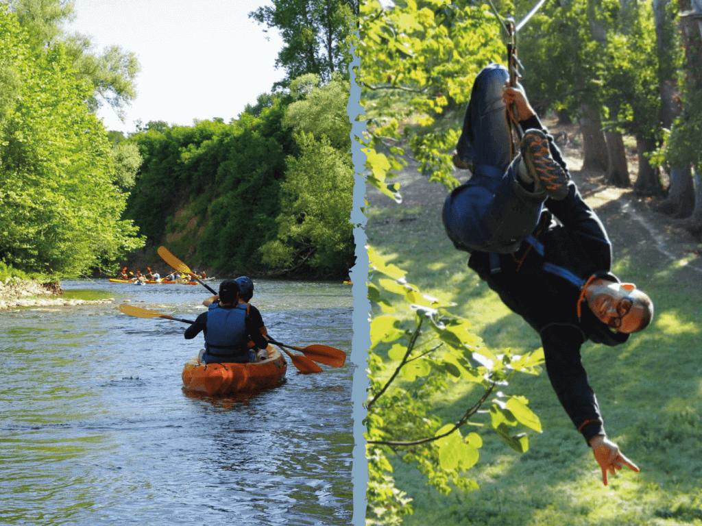 Formule canoe et accrobranche
