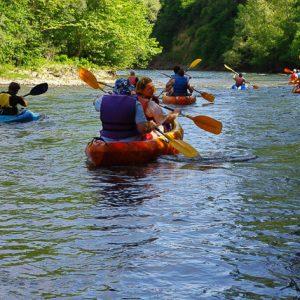 descente en canoe sur l'ariège