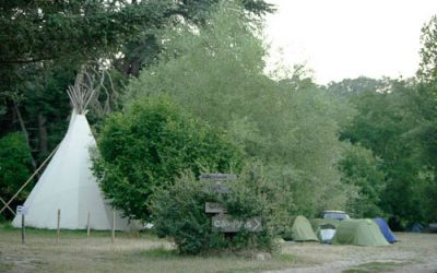 camping ou nuit sous tipi