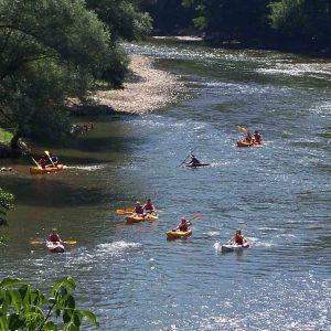 canoes avec guide sur l'ariège